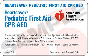Pediatric First Aid CPR AED Class