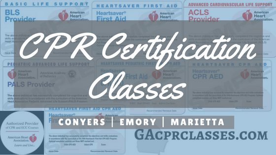 CPR Certification Classes Near Atlanta